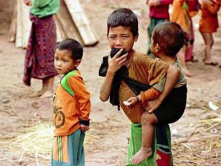 Vesnice kmene Akha (Laos)