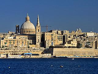 Nejkrásnější pohled na Vallettu je ze Sliemy (Malta)