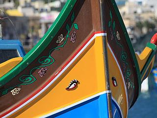 Malebné rybářské městečko Marsaxlokk (Malta)