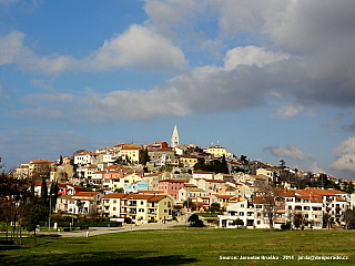 Vrsar - starobylé město na Istrii (Chorvatsko)