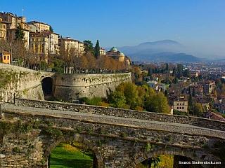 Bergamo - významné město italské Lombardie (Itálie)