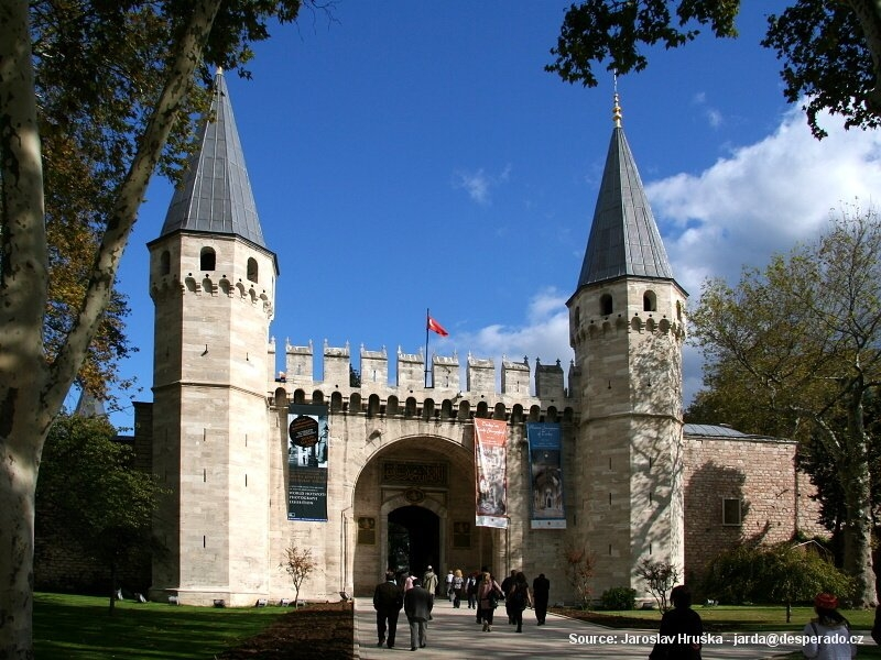 Sultánský palác Topkapi v Istanbulu