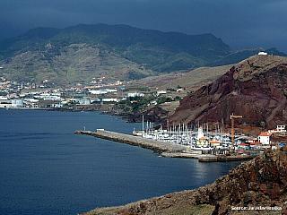 Madeirské přístavní město Canical (Portugalsko)