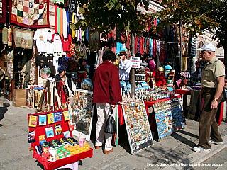Čtvrť Sultanahmet v historickém centru Istanbulu (Turecko)