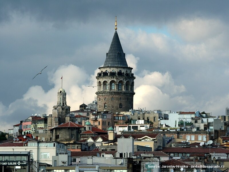 Čtvrť Galata v Istanbulu