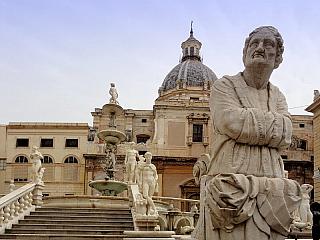 Palermo - centrum Sicílie (Itálie)
