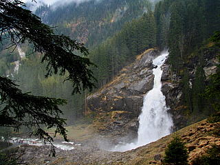 Krimmelské vodopády ve Vysokých Taurech (Rakousko)