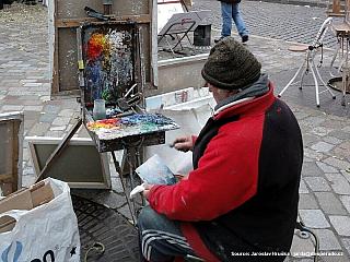 Čtvrť Montmartre v Paříži (Francie)