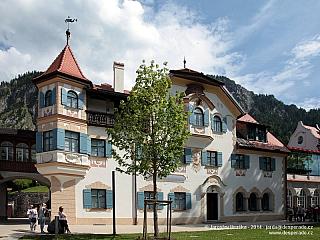 Bavorské městečko Hohenschwangau (Německo)