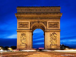 Vítězný oblouk v Paříži (Francie)