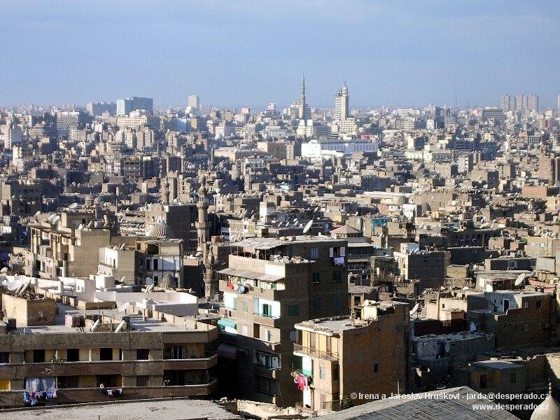 Velká Káhira má víc obyvatel než celá naše republika