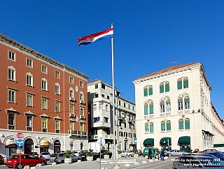 Split je centrem Dalmácie (Chorvatsko)