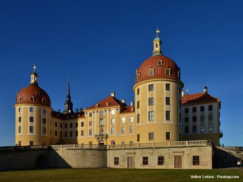 Lovecký zámek Moritzburg nedaleko Drážďan