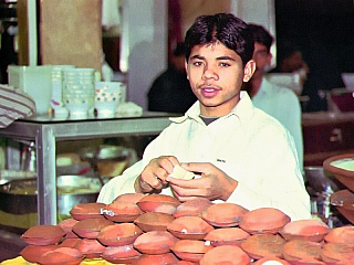 Tržiště v pákistánském Láhauru (Pákistán)