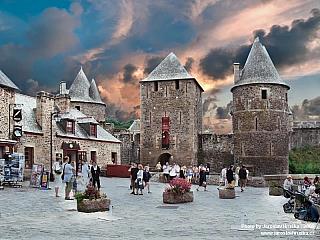 Hrad Fougéres v Bretani (Francie)
