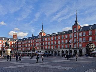 Náměstí Plaza Mayor v Madridu (Španělsko)