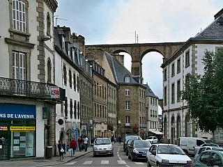 Morlaix - starý říční přístav (Francie)