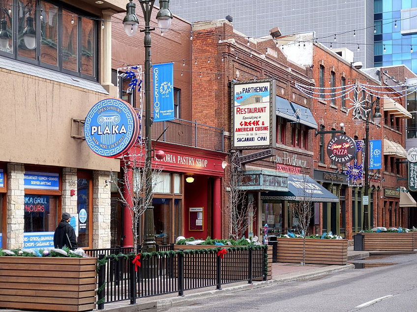 Greektown v Detroitu (Michigan - USA)