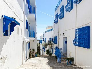 Sidi Bou Said – modrobílé předměstí (Tunisko)