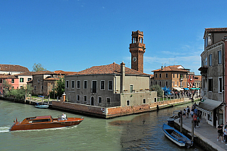 Torre dell'Orologio na ostrově Murano (Itálie)