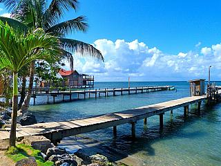 Pobřeží ostrova Roatán (Honduras)