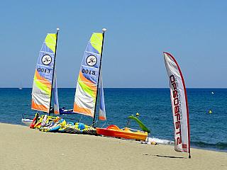 Turistické letovisko Moriani-Plage na Korsice (Francie)