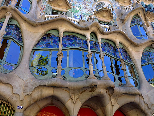 Gaudího Casa Battló v Barceloně (video)