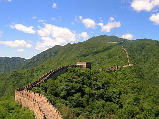 Velká čínská zeď se stavěla stovky let (Čína)