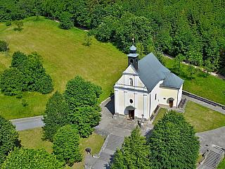 Poutní kostel Malenisko u Provodova (Česká republika)