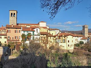 V Cividale del Friuli se potkáte s čertem, alespoň pomyslně (Itálie)