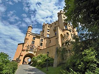Fotogalerie zámku Hohenschwangau v Bavorsku (Německo)