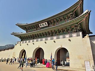 Palácový komplex Gyeongbokgung v Soulu (Jižní Korea)