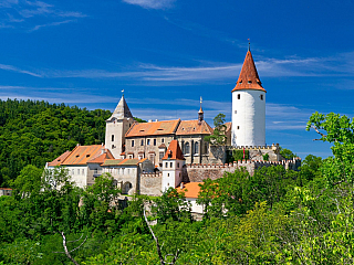 Hrad Křivoklát patřil po generace českým králům (Česká republika)