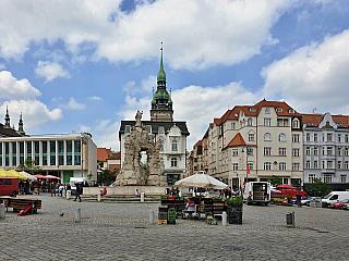 Zelný trh je už po staletí symbolickým centrem Brna (Česká republika)
