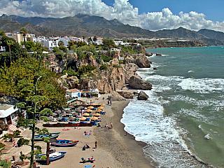 Nerja je andaluským městem s antickou historií (Španělsko)