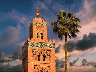 Mešita Koutoubia v Marrákeši (Maroko)