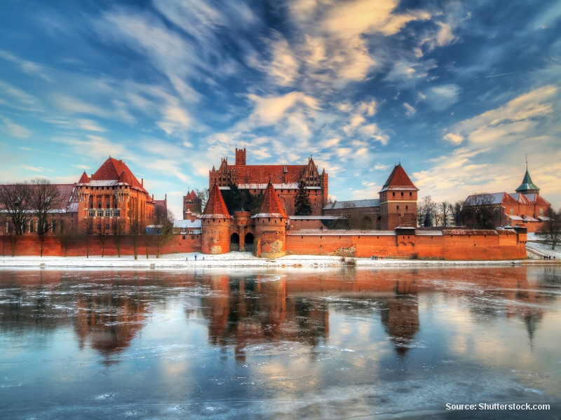 Malbork - impozantní klášterní pevnost
