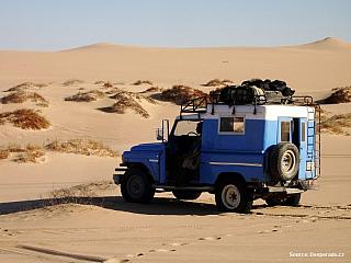 Video jízda písečnou pouští v Egyptě (Egypt)