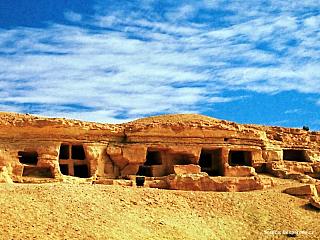 Video Pohřebiště Hora mrtvých v egyptské oáze Siwa (Egypt)