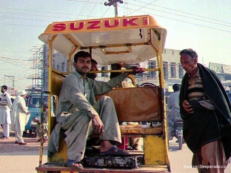 Okolí města Wazir Abad v Pákistánu