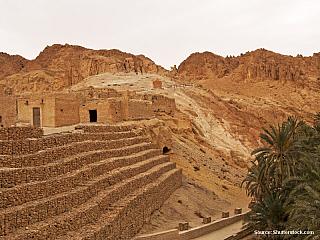 Tamerza, Chebika a Mides – skanzenové berbeské vesnice (Tunisko)