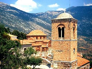 Moni Osiu Luka - klášter poustevníka Lukáše (Řecko)
