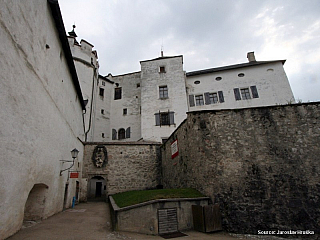 Pevnost Hohensalzburg nad Salcburkem (Rakousko)